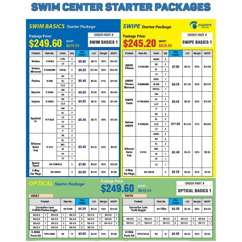Swim Center Starter Packages