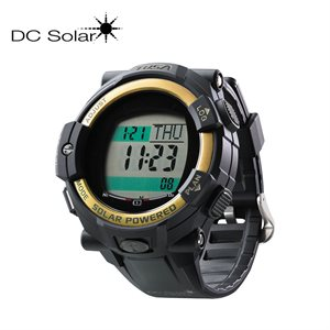 DC SOLAR LINK WATCH - BLACK / GOLD
