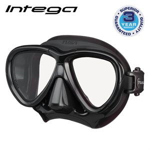 INTEGA MASK - BLACK / BLACK SILICONE
