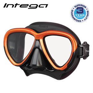 INTEGA MASK - ENERGY ORANGE / BLACK SILICONE