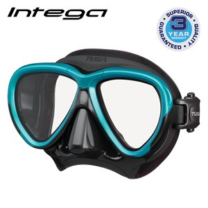 INTEGA MASK - OCEAN GREEN / BLACK SILICONE