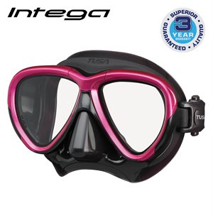 INTEGA MASK - ROSE PINK / BLACK SILICONE