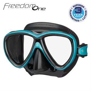 FREEDOM ONE MASK - OCEAN GREEN / BLACK SILICONE