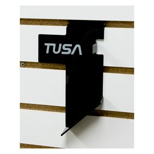 SLAT WALL SNORKEL HOLDER BK W / TUSA LOGO