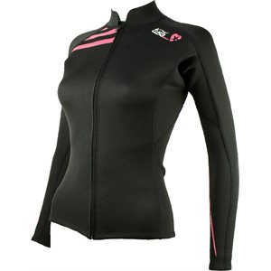 WETSUIT TOP for WOMEN 2MM - BLACK, LARGE