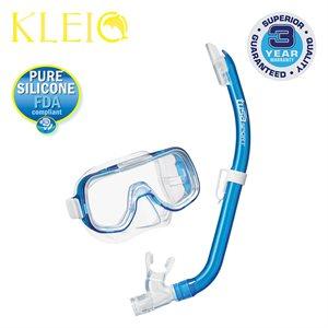 MINI-KLEIO MASK & SNORKEL SET JUNIOR (UM2000 / USP140) - CLEAR BLUE