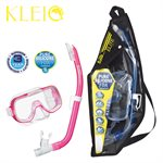 MINI-KLEIO MASK & SNORKEL SET JUNIOR (UM2000 / USP140) - CLEAR PINK