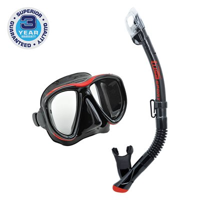 POWERVIEW ADULT DRY COMBO (UM-24 / USP-250) - BLACK / RED