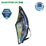 IMPREX 3D MASK & DRY SNORKEL SET (UM33 / USP250) - BLACK / FLASH YELLOW