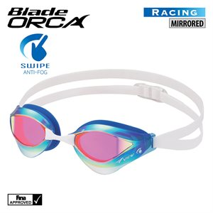 SWIPE BLADE ORCA GOGGLES, MIRRORED, BLUE