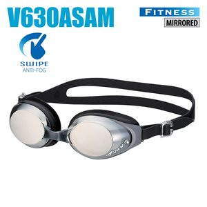 SWIPE FITNESS GOGGLES, MIRRORED, BLACK / DARK SILVER