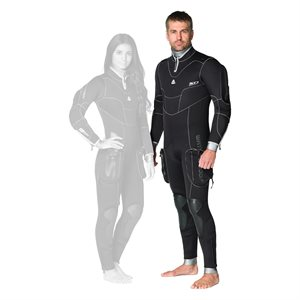645122 SD COMBAT 7MM SEMI-DRY FULLSUIT - MALE S / 48