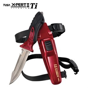 X-PERT II TITANIUM KNIFE - METALLIC DARK RED