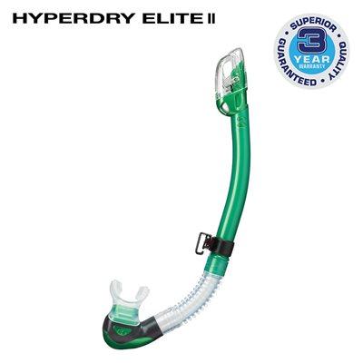 HYPERDRY ELITE II SNORKEL - ENERGY GREEN