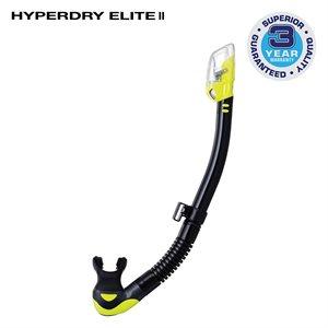 HYPERDRY ELITE II SNORKEL - BLACK / YELLOW