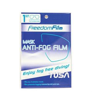 Freedom Film Anti-Fog Sheets for 2-Window Masks